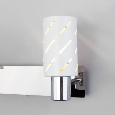 Настенный светильник с поворотными плафонами 20090/2 белый/хром