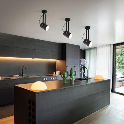Настенный светильник с поворотным плафоном 20092/1 черный