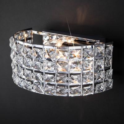 Настенный светильник с хрусталем 10115/2 хром/прозрачный хрусталь Strotskis