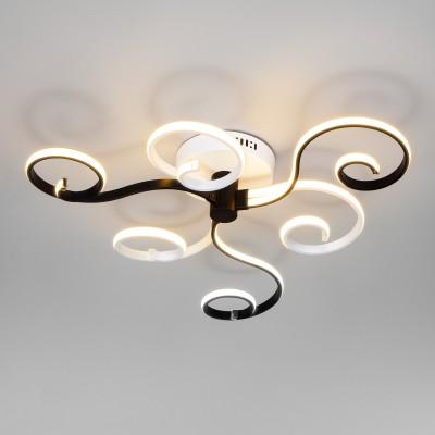 Потолочный светодиодный светильник с пультом управления 90149/3 белый/черный
