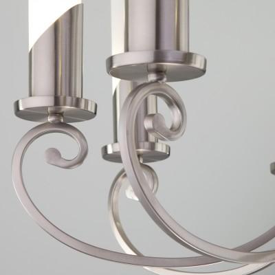 Классическая подвесная люстра 60117/8 никель