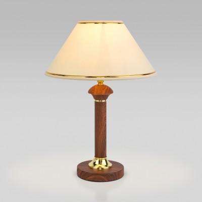 Классическая настольная лампа 60019/1 орех