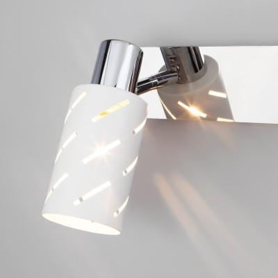 Настенный светильник с поворотными плафонами 20090/3 белый/хром