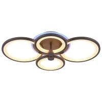 Светодиодная люстра регулируемая с подсветкой 8077/4 COF Кофе