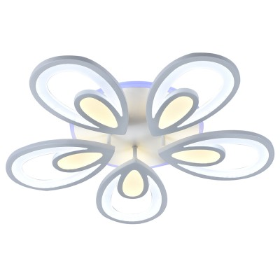 Светодиодная регулируемая  люстра Profit Light 8007/5 WHT  Белая