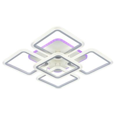 Светодиодная регулируемая  люстра 8075/4+1  WHT Белая