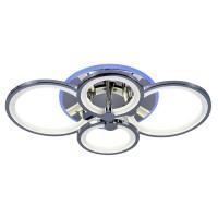 Светодиодная люстра регулируемая с подсветкой 8077/4 CHR ХРОМ