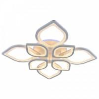 Светодиодная люстра регулируемая с подсветкой 8032/4+4 WHT  БЕЛАЯ