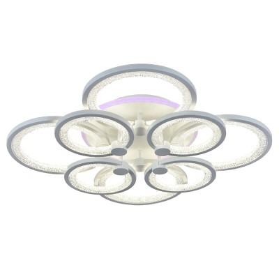Светодиодная люстра с пультом управления 8002/4+4 WHT белая