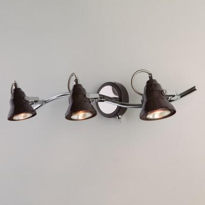Настенный светильник с поворотными плафонами 20062/3 хром/венге