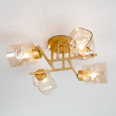 Потолочная люстра Eurosvet Hilari 30165/4 перламутровое золото