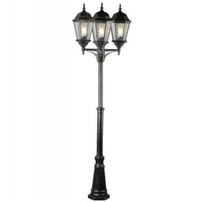 Столб фонарный уличный Arte Lamp GENOVA A1207PA-3BN