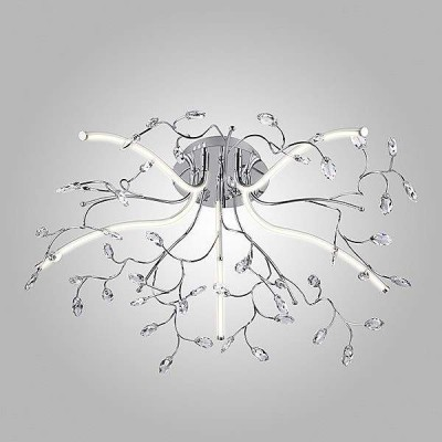 Потолочная светодиодная люстра Eurosvet 90036/5 хром